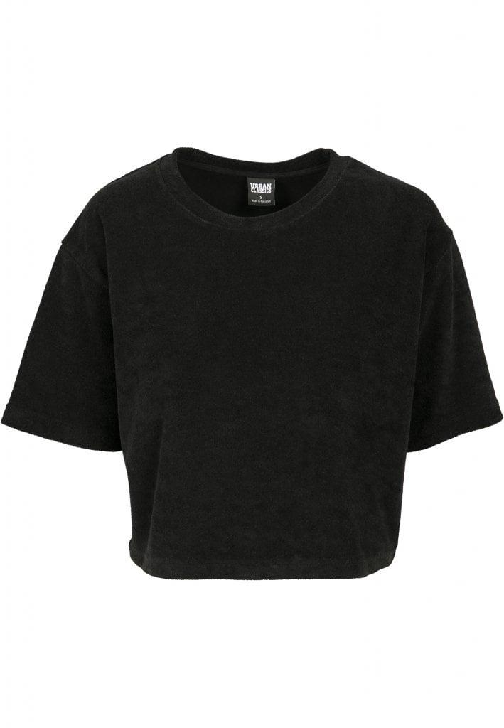 Kort t shirt i frotté dam T shirts Damkläder Dunken.se