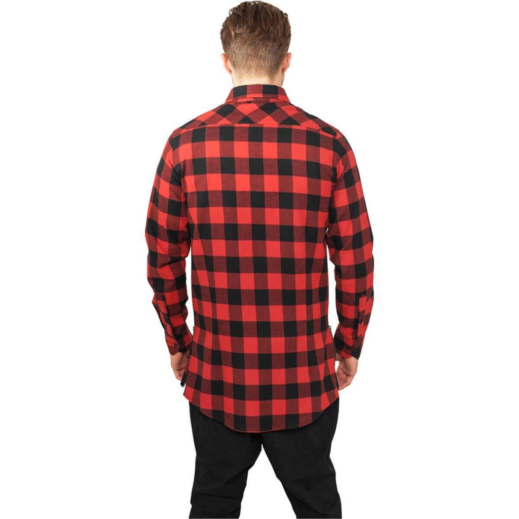 Lång Flanellskjorta Med Zip - Skjortor - Herrkläder - Dunken.se a41c6e11887b8