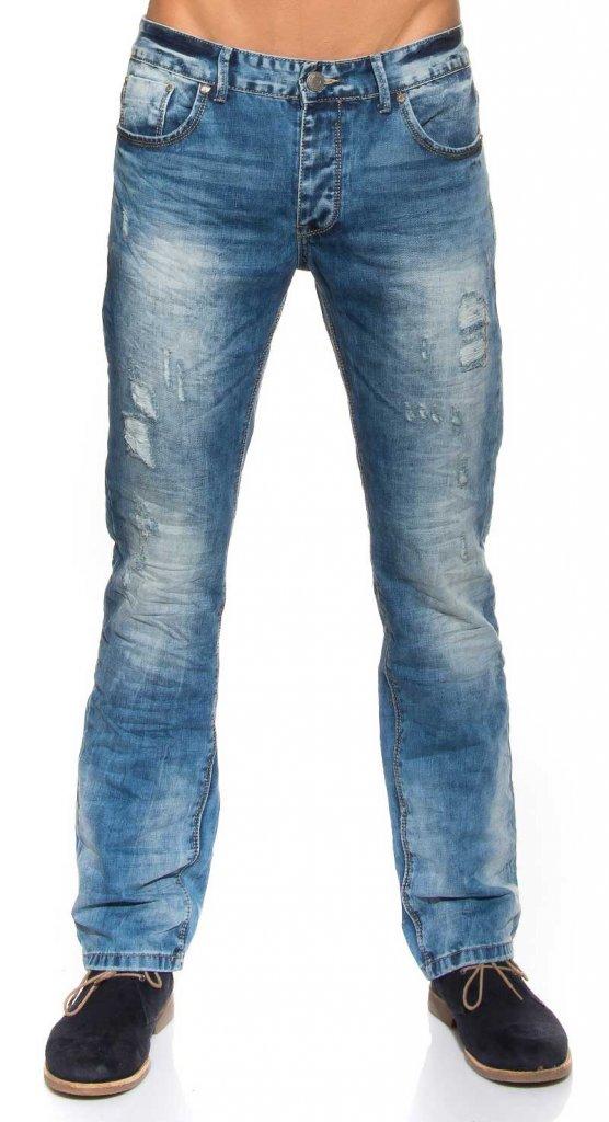 billiga slitna jeans
