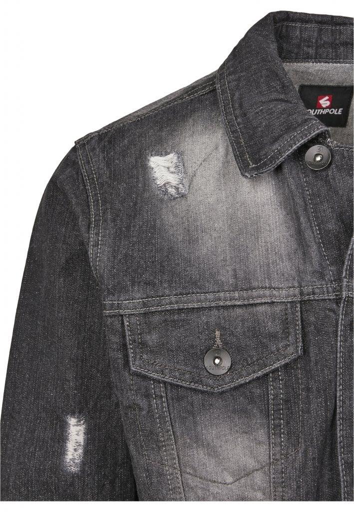 Svart jeansjacka med slitningar herr Jackor Herrkläder