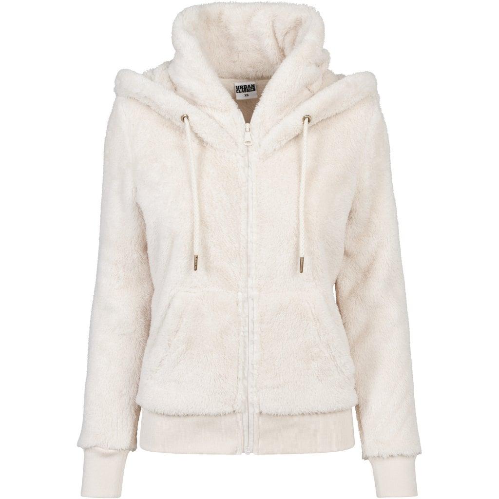 Teddy hoodie med zip dam Hoodies Damkläder Dunken.se