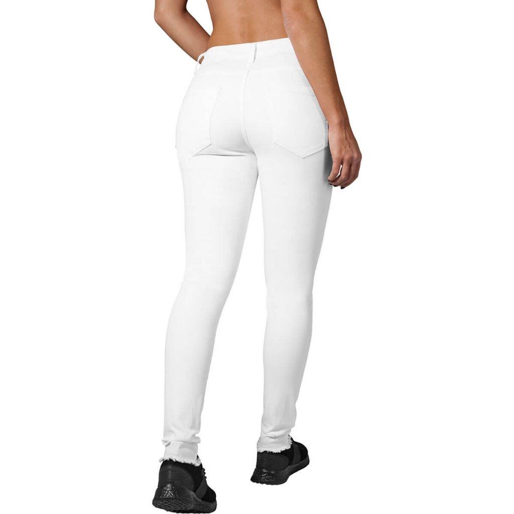 Vita jeans med hål på knäna - Byxor - Damkläder - Dunken.se 375ff364e8c41