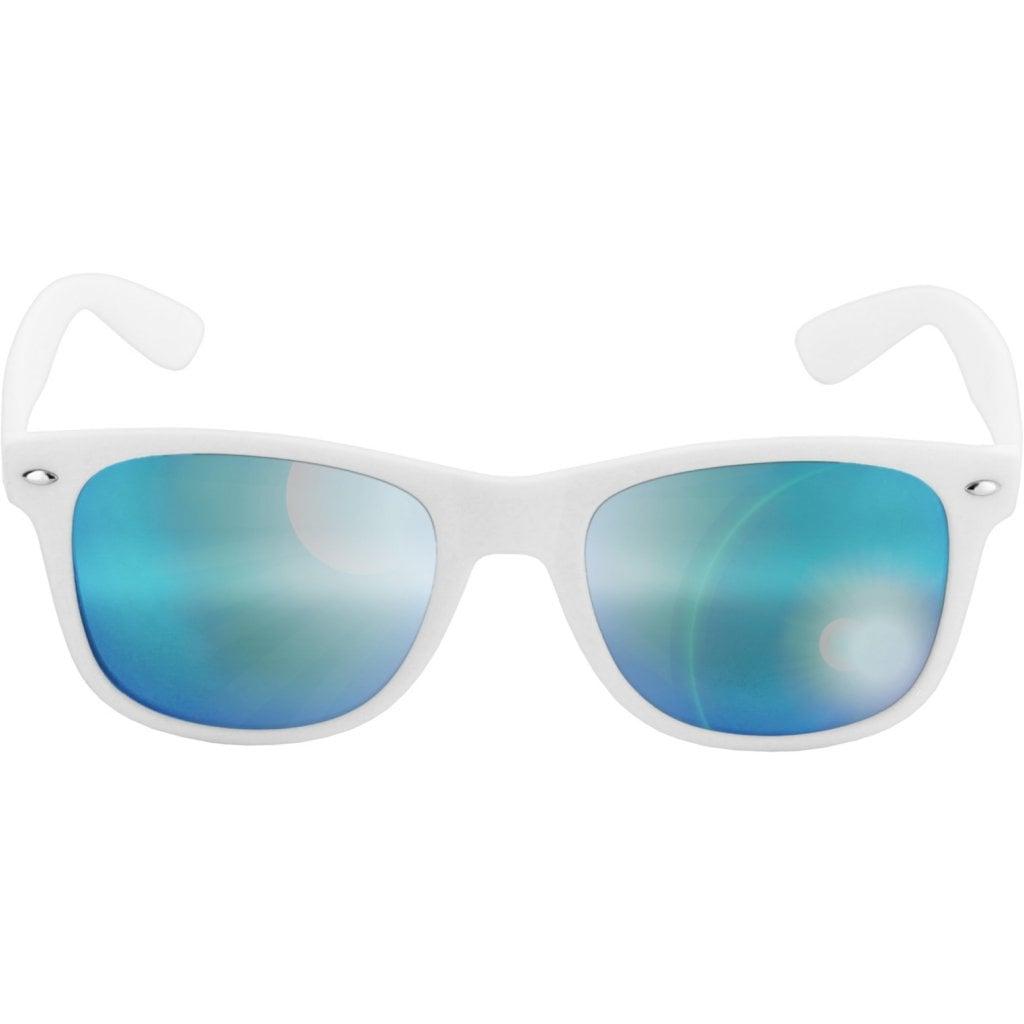 Wayfarer solglasögon spegelglas vita bågar 91a3250e7c7ab